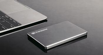 """купить 1.0TB (USB3.0) 2.5"""" Transcend """"StoreJet 25C3"""", Iron Gray, Ultra-Slim, Aluminum Casing в Кишинёве"""