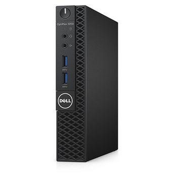 DELL OptiPlex 3050 MFF +Win7/10 Pro lnteI® Core® i3-6100T (Dual Core, 3.20GHz, 3MB), 4GB DDR4 RAM, 256GB M.2 SSD, no ODD, lnteI® HD530 Graphics, 65W PSU, USB mouse, USB KB216-B, Win 7 Pro (Win 10 Pro), Black