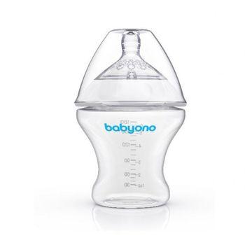 купить Babyono бутылочка пластиковая антиколиковая Natural Nursing, 180 мл в Кишинёве