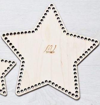 Formă din lemn stea, 26,5 cm