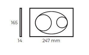 Кнопка для инсталляция подвесного WC Bocchi white глянец 8200-0012