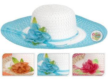 Шляпа женская летняя D42cm с цветком
