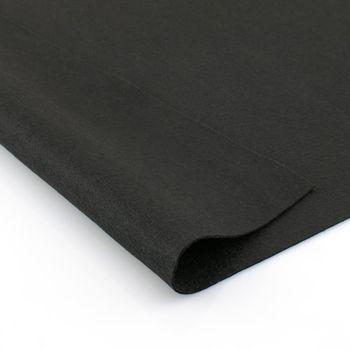 Фетр мягкий Черный. Размер: А4