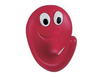 Крючок самоклеющийся Smile 2шт 4X5cm красный, пластик