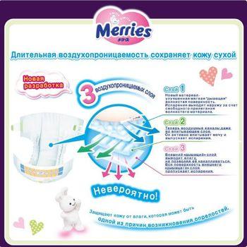 купить Merries подгузники L, 9-14кг. 54шт в Кишинёве