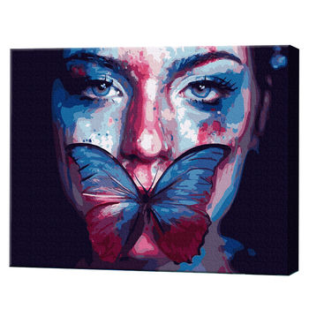 Бабочка на губах, 40х50 см, картина по номерам Артукул: GX38169