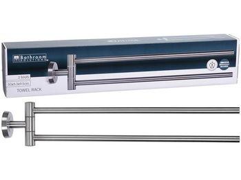 Перекладина для полотенец 2 уровня настенная Сталь20X9X5cm,