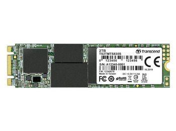 .M.2 SATA SSD 2,0 ТБ Transcend «TS2TMTS830S» [80 мм, Ч / Б: 560/520 МБ / с, 90/85 КБ IOPS, SM2258, 3DTLC]