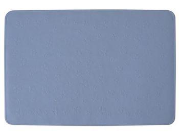 Коврик для ванны 35X53cm голубой, резиновый