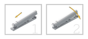Push impulse alb sau gri 20 mm + bază INDAUX