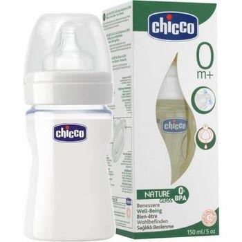 купить Chicco бутылочка силиконовая Nature Glass, 0+мес. 150мл в Кишинёве