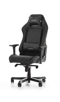 Gaming Chairs DXRacer - Iron GC-I11-N-S4, Black/Black/Black - PU leather & PVC leather, Gamer weight up to 130kg / growth 160-195cm, Foam Density 52kg/m3, 5-star Wide Alum Base,Gas Lift 4 Class,Recline 90*-135*,Armrests:4D,Pillow-2,Caster-3*PU,W-30kg