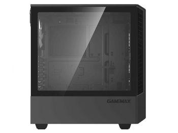 купить Case ATX GAMEMAX Panda T802, 1x120mm ARGB fan, 3xARGB LED strip, PWM/Rainbow HUB, USB3.0, TG, Black в Кишинёве