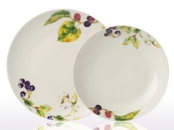 Тарелка сервировочная 23.5cm ягоды-листья, фарфор