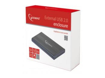 """Внешний корпус 2,5 """"SATA HDD (USB 2.0), черный, Gembird"""" EE2-U2S-5 """""""