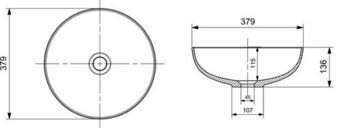 Раковина Bocchi 1494-002-0125 38cm