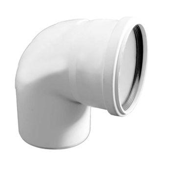 купить Отвод ПВХ белый ф. 160 x 90°  M в Кишинёве