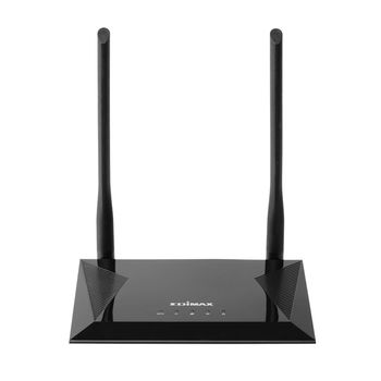 EDIMAX BR-6428NS V5 N300 Wireless 4-in-1: Wi-Fi Router, Access Point, Range Extender, WISP, 300Mbps 2.4GHz, 802.11a/b/g/n,1 WAN+4 LAN, Multi-SSID, Guest Network, Smart iQ Setup, 2 fixed  antennas, Wi-Fi On/Off