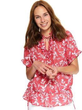 Блуза TOP SECRET Розовый с принтом sbd1129