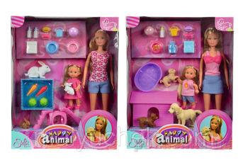 купить Simba Куклы Стеффи и Эви  с животными в Кишинёве