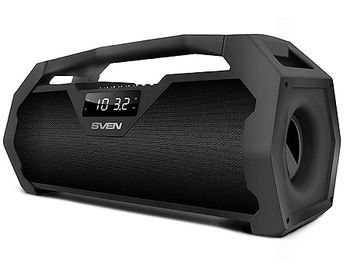 SVEN PS-470 Portable Bluetooth speaker, 18W (2 x 9W), 100Hz–20kHz, LED display, FM-tuner, microSD, USB Flash, Li-Ion 1800 mAh, USB (boxe portabile sistem acustic/колонки портативные акустическая сиситема), www
