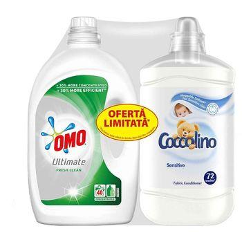 купить Set Omo Lichid Ultimate Fresh Clean, 2 L + Coccolino  Sensitive 1800 ml Gratis в Кишинёве