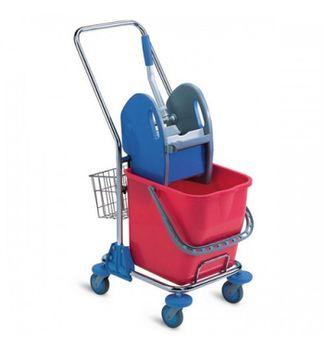 Export Chromed Trolley - Тележка уборочная 1х15 л
