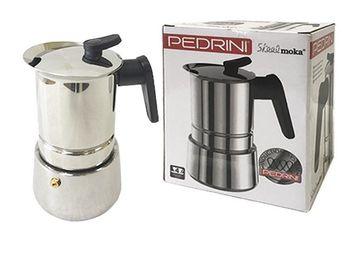 Кофеварка на 4 чашки Pedrini Caffe, нержавеющая сталь