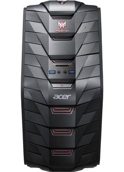Acer Predator G3-710 (DG.B1PME.002) Intel® Core®  i5-6400 2.70 GHz, 16Gb (2* 8Gb) DDR4 RAM, 256GB SSD + 2TB HDD, DVDRW, Cardreader, NVIDIA GTX1060 6GB Graphics, 500W PSU, FreeDOS, USB Predator KB/MS, Black