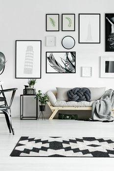 Ковёр ручной работы E-H AFRO KILIM, AFR 01 BLACK WHITE 160*230