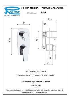 купить Смеситель д/душа & ванны скрытого монтажа ATMOS 93 Remer M в Кишинёве