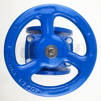 купить Задвижка чугун dn125mm PN16 обрезиненный клин DIN3352-F4 (L=200mm) 8 отверстий в Кишинёве