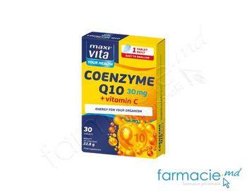 купить Coenzima Q10 30mg + Vit.C 80 mg tab.N30(1 tab/zi) MaxiVita в Кишинёве