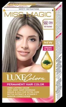 Краска для волос,SOLVEX Miss Magic Luxe Colors, 108 мл., 122 (7.1) - Пепельно-русый