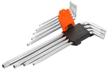 купить Ключи звездочки Torx (T10-T50  9 шт) длинные с футляром Wokin в Кишинёве