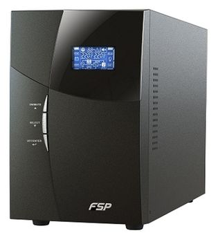 FSP Knight KN-1102TS Tower SmartUPS Online 2000VA/1800W, LCD, AVR, True double conversion, Pure Sinewave, Input voltage 110V–300V, Input IEC 320 C20, Output 8 x IEC 320 C13 , USB&RS-232 Ports, 419x190x318mm, 26kg