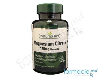 купить Magneziu Citrat 125mg (elemental)+5mg B6 VEGAN comp.N60 Natures Aid в Кишинёве