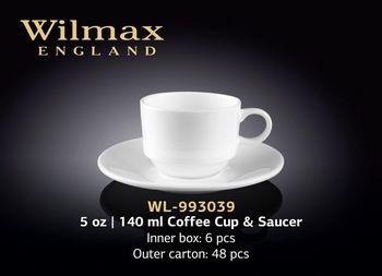 Чашка WILMAX WL-993039 AB (с блюдцем 140 мл)