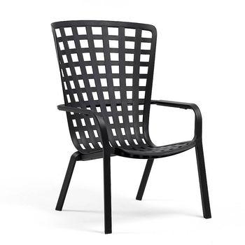 Лаунж-кресло Nardi FOLIO ANTRACITE 40300.02.000.04 (Лаунж-кресло для сада и террасы)