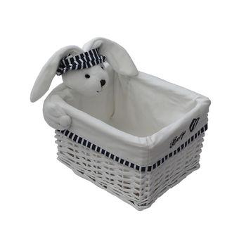 cumpără Coş cu iepure 280x220x160 mm, alb în Chișinău