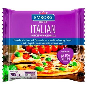 Плавленый сыр Emborg Italian Mozzarella ломтики, 200г