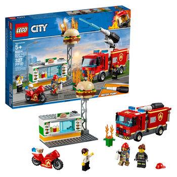 """LEGO City """"Foc într-o cafenea cu burger"""", art. 60214"""