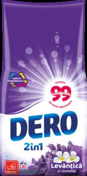 купить Стиральный порошок Dero 2in1 лаванда и жасмин, 1.8 кг в Кишинёве