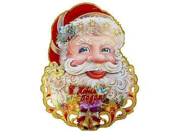 "Картинка-декор на окно/стену ""Дед Мороз"" (лицо) 43.5cm"
