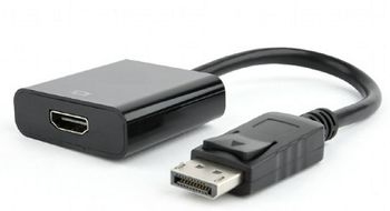 Adapter DP-HDMI - Gembird AB-DPM-HDMIF-002, DisplayPort male to HDMI femaile adapter cable, blister, Black
