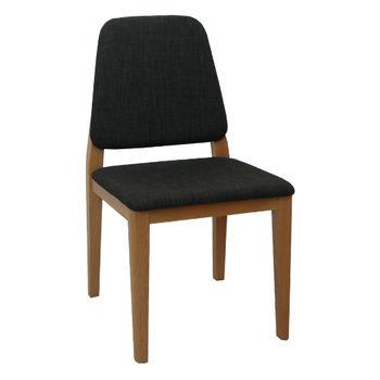 cumpără Scaun din lemn tapiţat, picioare de lemn 540x450x850 mm, gri inchis în Chișinău