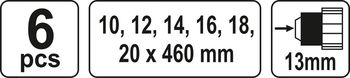 cumpără YT-3299 - Set 6 burghie spiralate pentru lem 10-20*460 mm în Chișinău