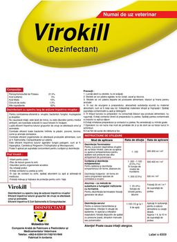 купить Вирокилл - дезинфектант ветеринарный - Мобедко в Кишинёве