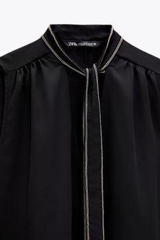 Блуза ZARA Чёрный 7484/034/800