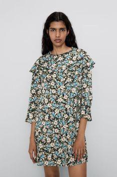 Платье ZARA Цветочный принт 8034/136/330
